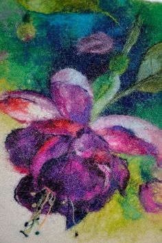 Amazing wet felting watercolour art