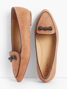 Find a great selection of Flats at Talbots! Shop the latest styles of shoes to find the perfect pair. Suede Loafers, Loafer Shoes, Shoes Sandals, Cute Shoes, Me Too Shoes, Zapatos Shoes, Clearance Shoes, Loafers For Women, Woman Shoes