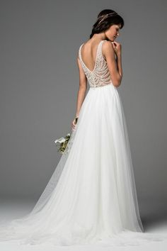 Shop designer bridal gowns like the Locket Style 58605 dress by Willowby and other bridal accessories at Blush Bridal. Retro Wedding Dresses, Wedding Dress Sizes, Boho Wedding Dress, Designer Wedding Dresses, Bridal Gowns, Wedding Gowns, Blush Bridal, Bridal Gallery, A Line Gown
