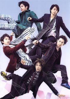 Arashi: Jun, Aiba, Nino, Sho and Ohno