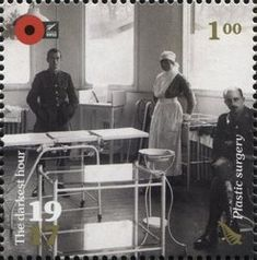 Stamp: Plastic Surgery (New Zealand) (100th Anniv. of WWI: 1917. The Darkest Hour.) Mi:NZ 3443,Sg:NZ 3883