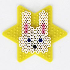Easter bunny head perler fuse bead pattern