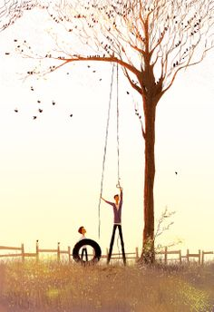 Pascal Campion. As usual, I love trees and birds. I also really enjoy the colors in this illustration.