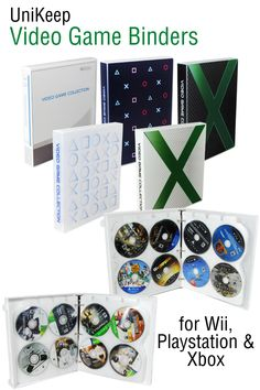 Video game discs starting to pile up? UniKeep Video Game Binders will turn your collection from messy to slim and compact. Video Game Organization, Video Game Storage, Star Citizen, Video Game Collection, Mini Binder, Space Games, Compact Disc, Pvp, Game Design