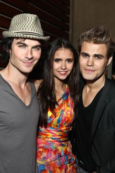 Ian Somerhalder, Nina Dobrev and Paul Wesley at Comic-Con