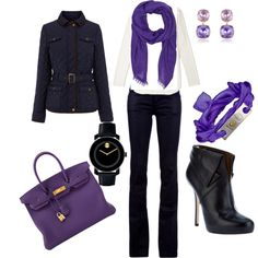 Purple by marsers on Polyvore featuring Vince, Oasis, Gucci, Blumarine, Hermès, Movado, AZ Collection and Givenchy