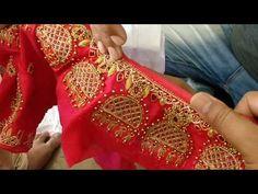 gold jhumka design blouses - YouTube