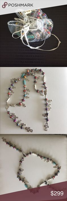 Unique and beautiful Rosary. Unique and beautiful Rosary.We made few rosaries for each style.It is hand made for me and my beautiful wife. We're the only ones in on the earth to make these.It was our idea to make these.we make the best quality and never changes color.Please share with your friends. Jewelry Necklaces