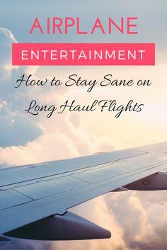 Airplane Entertainment: What to do on Long Flights | www.apassionandapasport.com