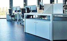 Trigon workplaces, desks, bureaus, for in the modern office Desks, Workplace, Modern, Kitchen, Home Decor, Mesas, Trendy Tree, Cooking, Decoration Home