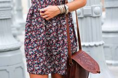Flower Print Sleeveless Dress, styling by Collage Vintage