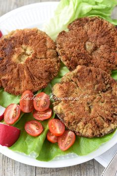 Kanie w panierce Salmon Burgers, Ethnic Recipes, Food, Hot Appetizers, Roasts, Fungi, Food Food, Recipes, Salmon Patties