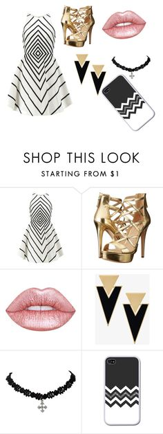 """""""Untitled #153"""" by mablemirkwood on Polyvore featuring Halston Heritage, GUESS, Lime Crime and Yves Saint Laurent"""