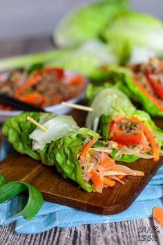 Ina Is(s)t: Koreanische Salatwraps mit Hackfleisch / Korean beef lettuce wraps