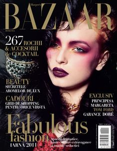 Cover with Ruxanda Varta December 2011 of RO based magazine Harper's Bazaar Romania from Hearst Corporation including details. V Magazine, Makeup Magazine, Fashion Magazine Cover, Fashion Cover, Magazine Covers, Women's Fashion, Fashion Design, Vanity Fair, Marie Claire