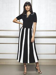 a4cc24240eb Eva Mendes Collection - Tamia Pleated Sweater Maxi Skirt - New York    Company Eva Mendes