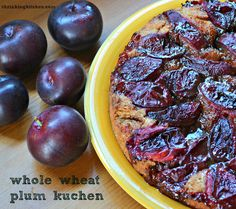 from shrinking kitchen whole wheat plum kuchen whole wheat plum kuchen ...