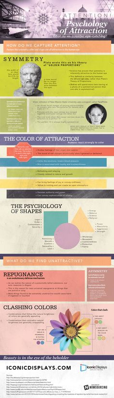 Psychology of attraction #infographic