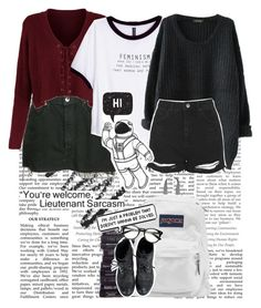 ~I Am An Artist and I Have Fantasies~ by a-random-gryffindork on Polyvore featuring polyvore H&M Topshop JanSport Levi's Nordstrom MoMo fashion style clothing