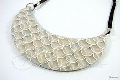Escamas (Bozzi Super Polymer Clay) by Beatriz Cominatto, via Flickr