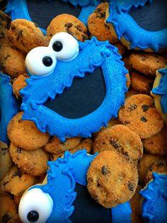 Cookie Monster Cookies      Lettie's Labor of Love