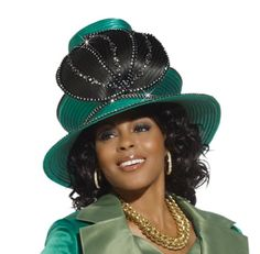 Mother Of The Bride First Lady Church Hat in Emerald Green and Black H2122 Donna Vinci,http://www.amazon.com/dp/B00E87PTZW/ref=cm_sw_r_pi_dp_g.vDsb094M8HY2TA