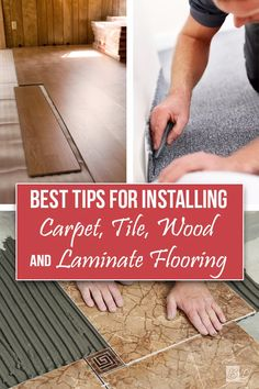 Learn flooring tips from the pros! How-To tutorials and project inspiration all in one place; learn how to properly install carpet, tile, wood, and laminate flooring. Follow these step by step instructions to have the BEST looking floors throughout your whole home. Click here and read The Exceedingly Comprehensive Guide To DIY Home Improvement For First-Time Homeowners and get started today!
