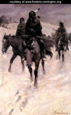 On the Trail - Frederic Remington - www.frederic-remington.org