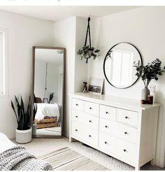 Minimalist bedroom with cheap furniture . Minimalist bedroom with cheap furniture – great bedroom furniture ideas for … Simple Bedroom Decor, Modern Bedroom Design, Room Ideas Bedroom, Home Decor Bedroom, Trendy Bedroom, Simple Bedrooms, Mirror Bedroom, Bedroom Inspo, White Room Decor