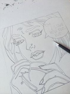 태교용 그림 밑그림작업.