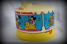 """Vintage Collectible Disney DREAMTIME CAROUSEL 1988 1980's 80's MICKEY Mouse plays music """"When you wish"""