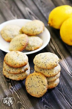 Flourless Gluten-Free Vegan Lemon Chia Seed Cookies...vegan, gluten-free, dairy-free, egg-free, grain-free, soy-free, paleo-friendly and contains no refined sugar | The Healthy Family and Home