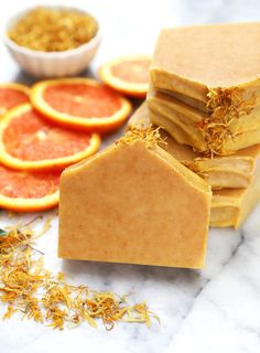 DIY Beginner Natural Orange Cold Process Soap Tutorial