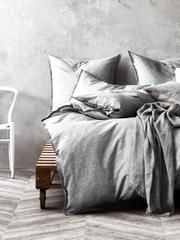 Chambray Fringe Quilt Cover Dove Quilt Cover Bedroom Interior Modern Shade