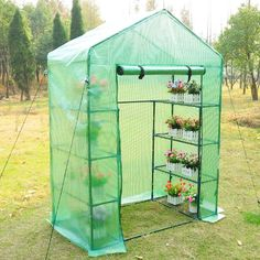 Outsunny 4 Tier Portable Green House Small 56×30×78 inch with Shelves