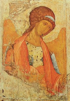 """Description of the icon by Andrei Rublev """"Archangel Michael""""Description picture - Rublev Andrey Religious Icons, Religious Art, Andrei Rublev, Angel Drawing, Byzantine Icons, Picture Logo, Catholic Art, Orthodox Icons, Sacred Art"""