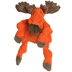 HuggleHounds Knotties Moose Dog Toy - Large|EntirelyPets