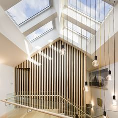 Add wow factor to your home with a skylight or roof window. We supply & install Australia's leading skylights range including VELUX - as seen on The Block. Be Light, Roof Light, Flat Roof Skylights, Architecture Design, Skylight Design, Stair Well, Melbourne House, Roof Window, Indoor Outdoor Living