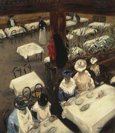 Alfred Henry Maurer:  In a Café (1905)