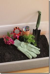 Garden Sensory Tub - great to use as occupation based idea or sensory integration