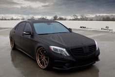 Matte Black Mercedes-Benz S550 - ADV10 Track Spec CS Wheels - ADV.1 Wheels