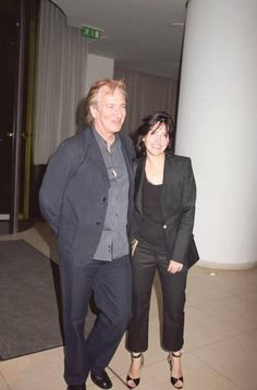 Alan Rickman and Sharleen Spiteri of Scottish group Texas at a Cocktail Party for the film 'Down with Love' at the Asia de Cuba, London on 19.5.2003.