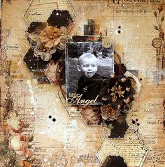 Scraps of Elegance: Timeless Kit - layout by Anna Rogalska.  www.scrapsofdarkness.com