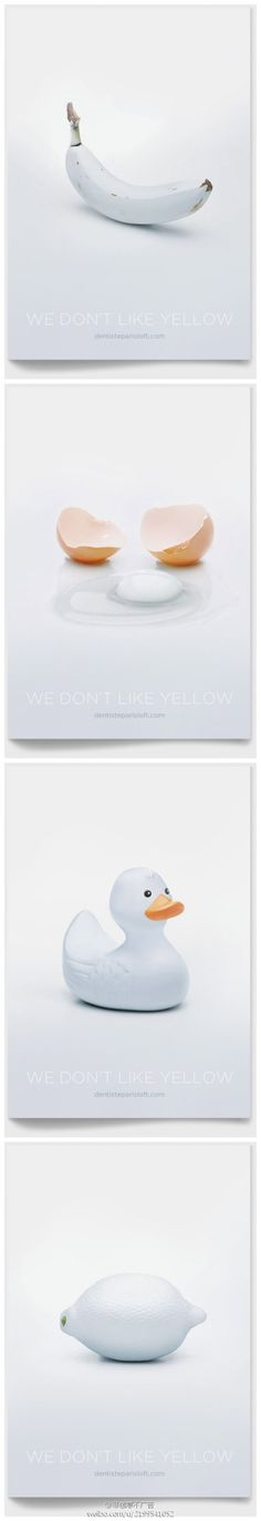 Un monde en blanc A dentist ads, We don't like yellow. 気になる 白 シリーズ シンプル #white_world
