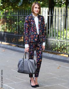 floral suits are all the rage this fall