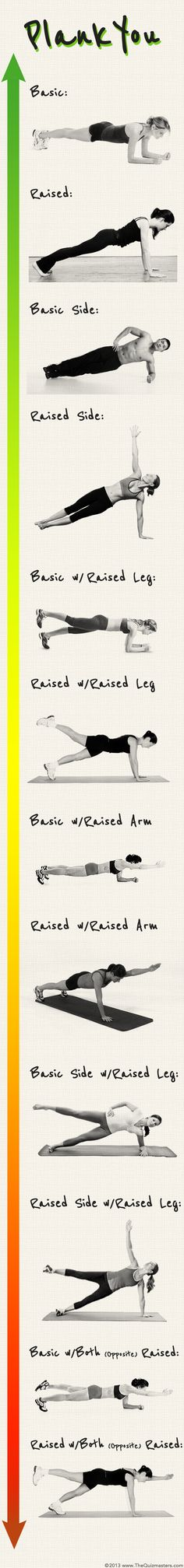 PLANK YOU - Plank Infographic (Easy to Hard). nice but something: A new breakthrough 15 minute Workout App to guide you with Day-by-Day diets and fitness workouts that will transform your body into New You: strong, slim and fit!