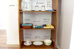Beau's Montessori Kitchen Shelf
