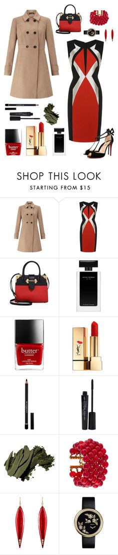 """""""Graphic"""" by annabellalovesfashion ❤ liked on Polyvore featuring Miss Selfridge, Prada, Yves Saint Laurent, Givenchy, Smashbox, Bobbi Brown Cosmetics, Chanel, Mark Davis and Christian Louboutin"""
