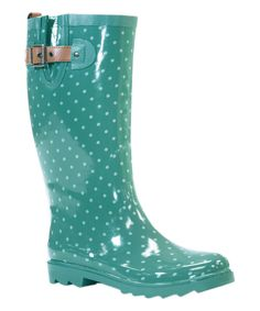 Jungle Green Classic Dot Rain Boot
