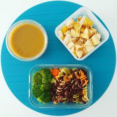 Bom dia! Aqui vai a minha sugestão de almoço de hoje: sopa massa com feijão e cenoura com brócolos e fruta.  Em vésperas de Dia Mundial de Alimentação esperam-se novidades muito boas muito em breve